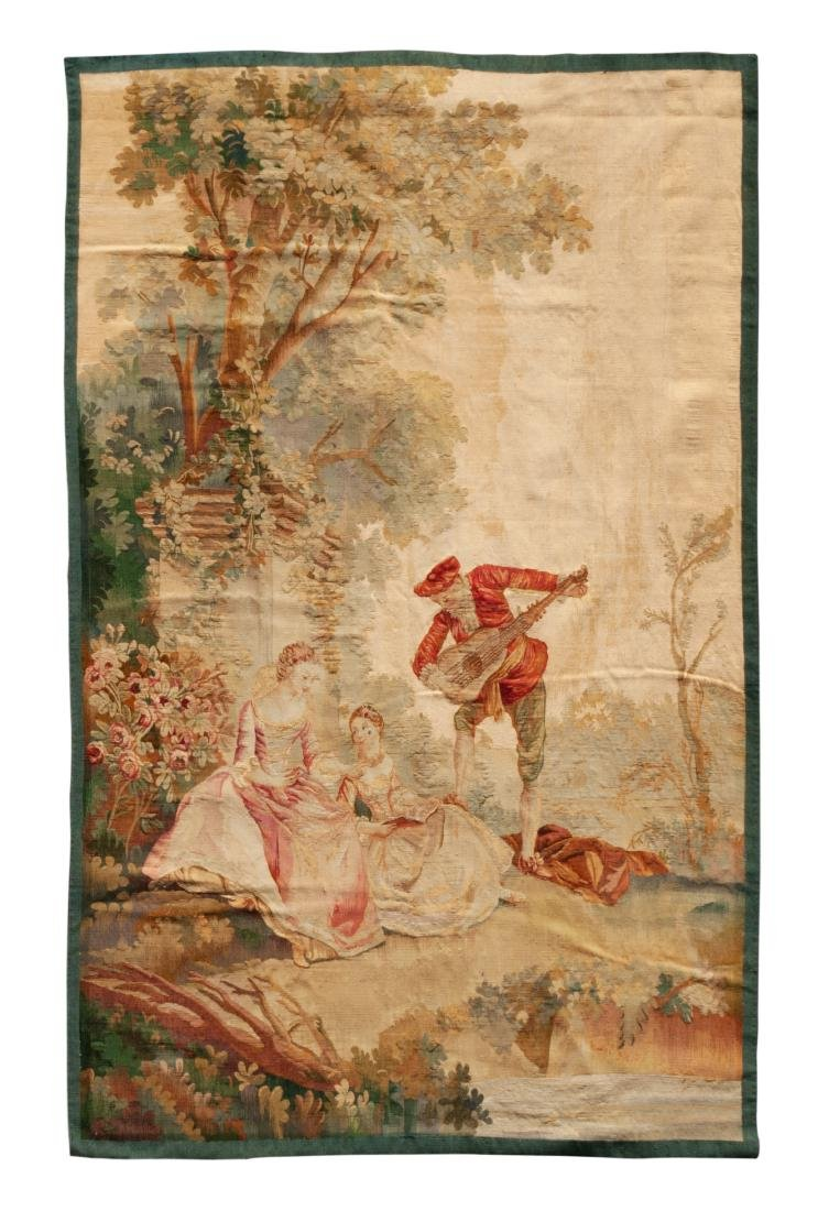 A French Wool Tapestry 7 feet 1 inch x 4 feet 6 inches.