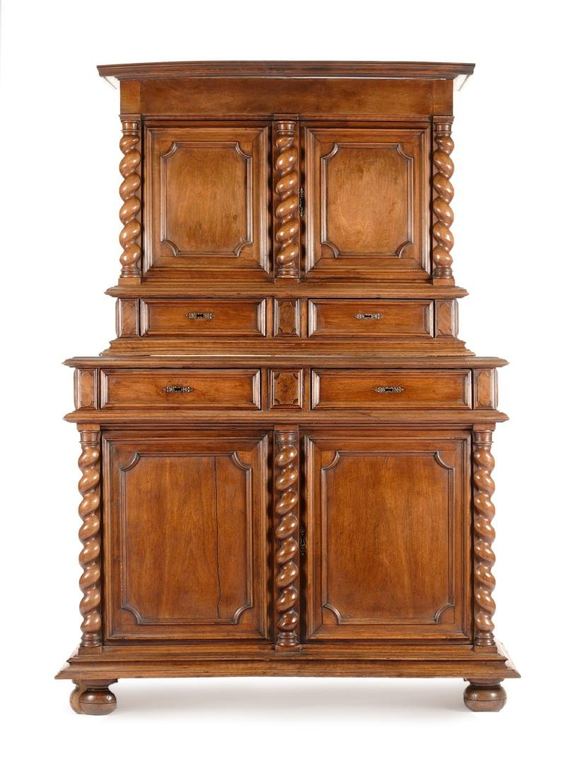 A French Provincial Walnut Cabinet Height 83 x width 57