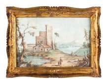 French School 19th Century Village Landscape Scenes