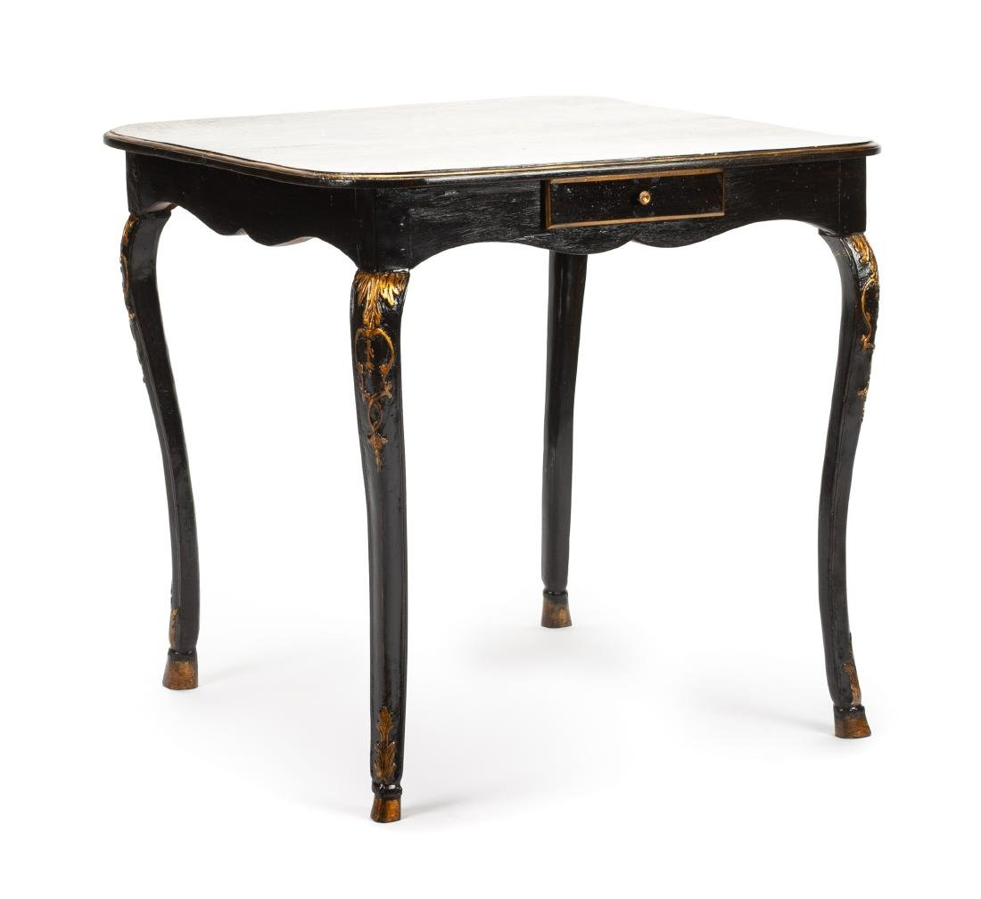 A Louis XV Painted Table Height 28 1/2 x width 29 x