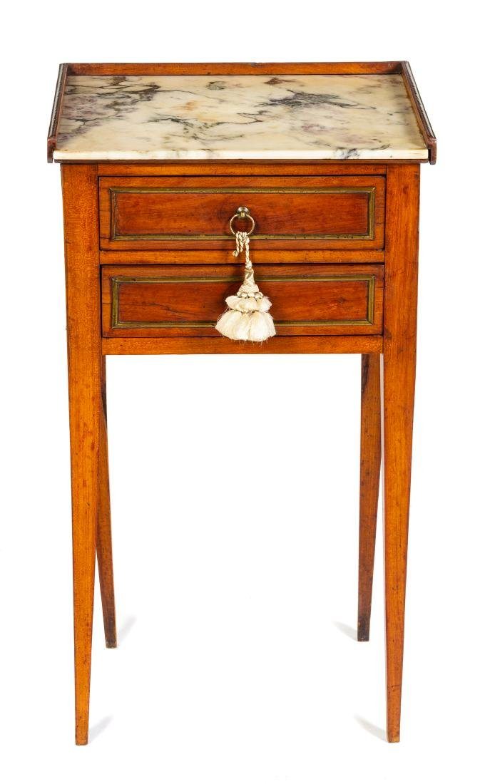 * A Louis XVI Transitional Style Side Table Height 28 x