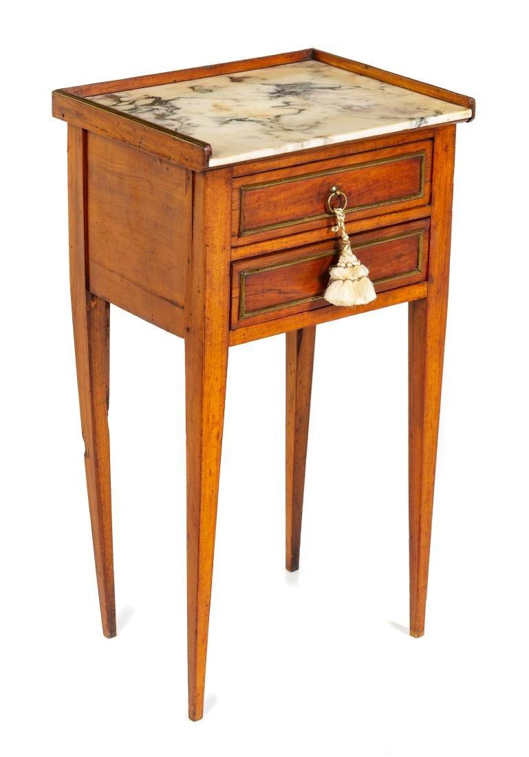 * A Louis XVI Transitional Style Side Table Height 28 x - 2