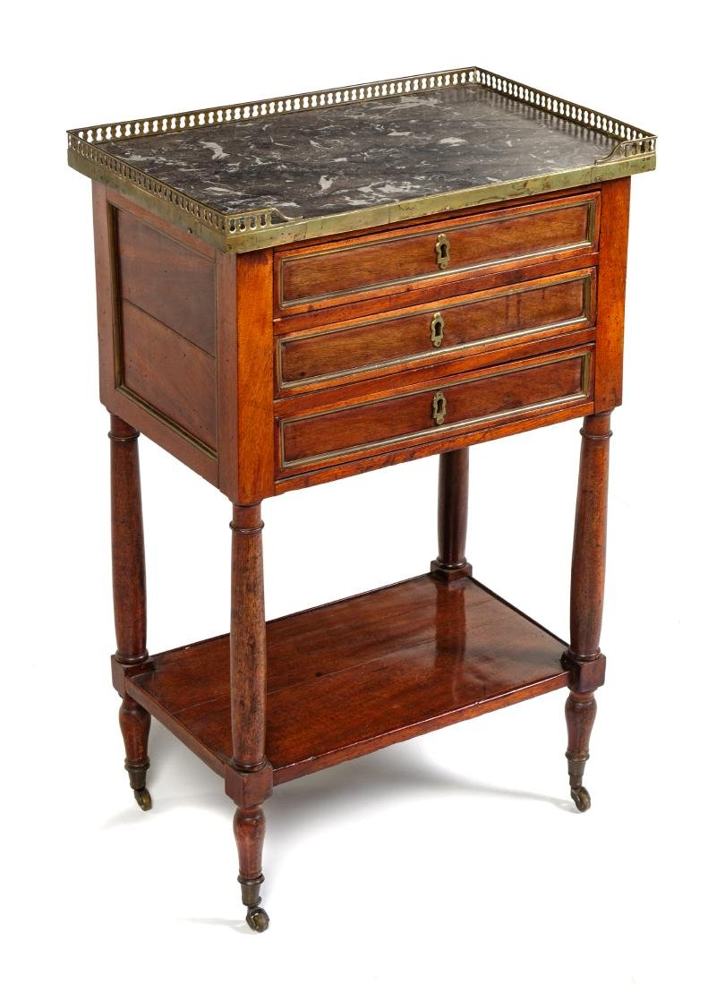 * A Directoire Style Mahogany Side Table Height 29 x