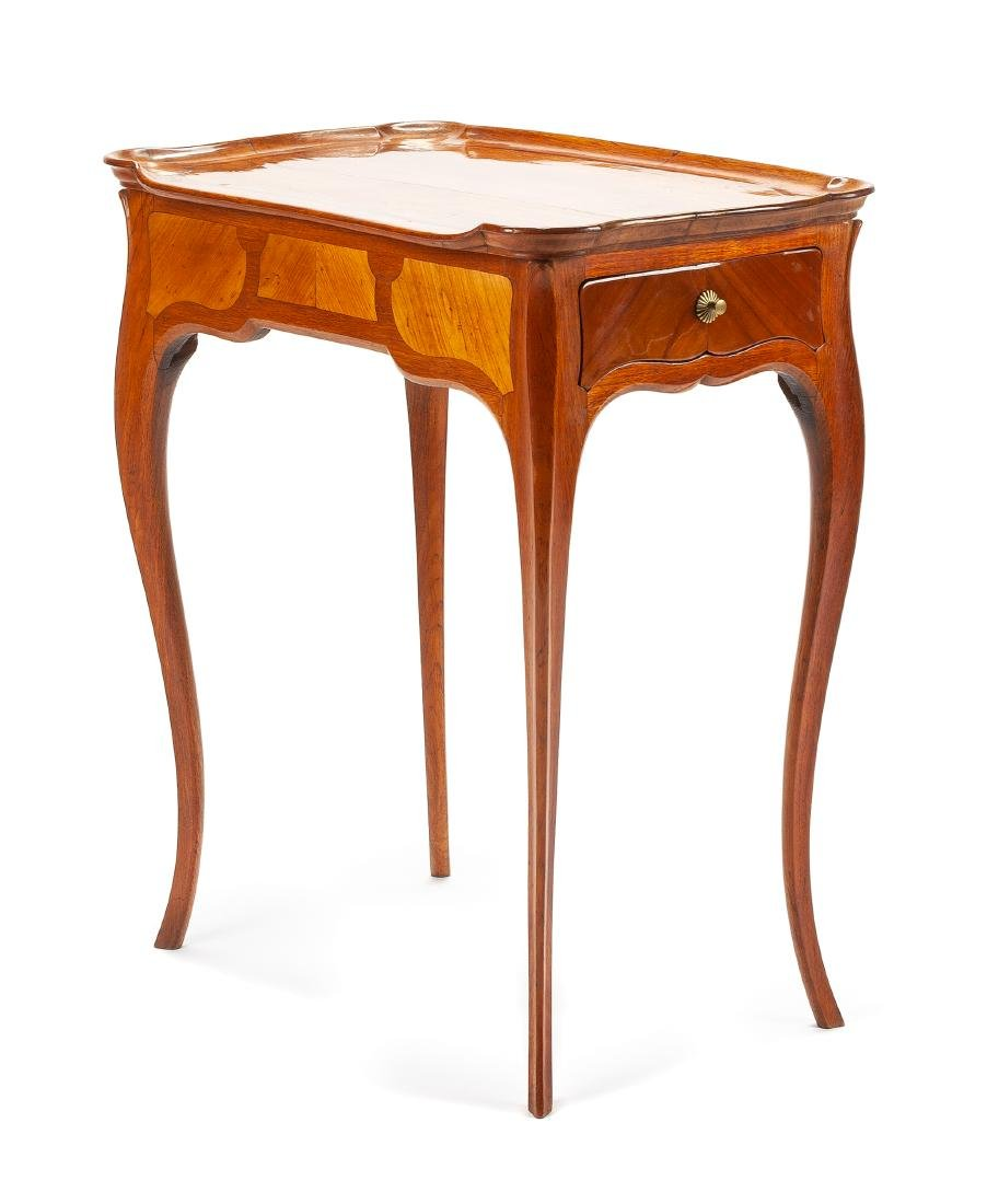 A French Fruitwood Side Table Height 29 x width 25 x