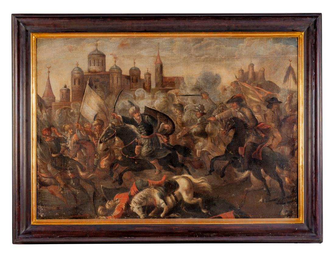 Continental School, (18th Century), Battles (a pair of - 2