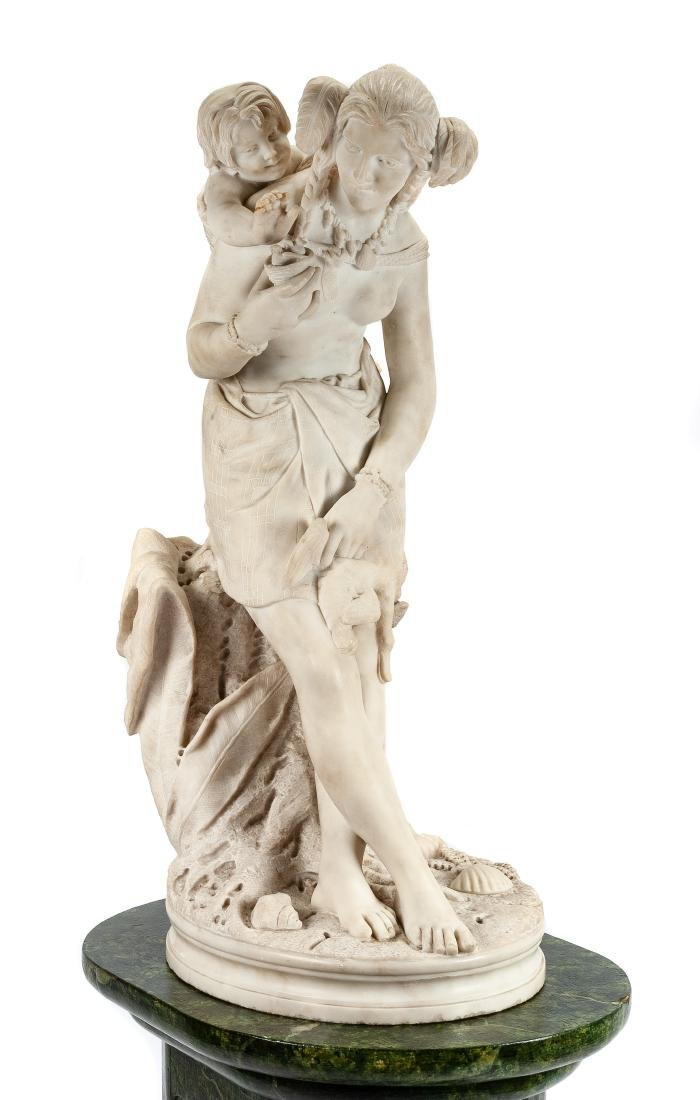 An Italian Marble Figural Group Height of marble 34 - 2