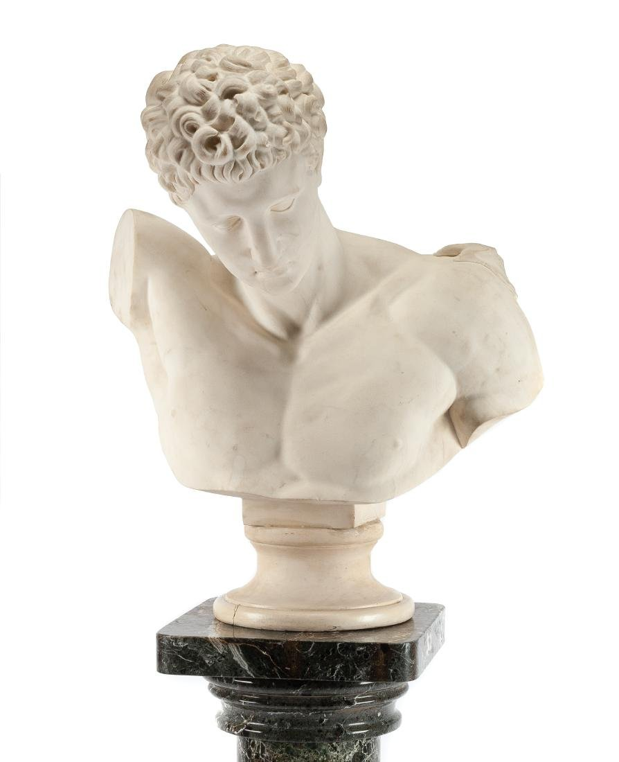 An Italian Marble Bust Height of bust 31 1/2 inches; - 2