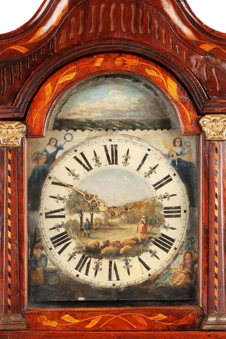 A Diminutive Dutch Marquetry Tall Case Clock Height 77 - 2