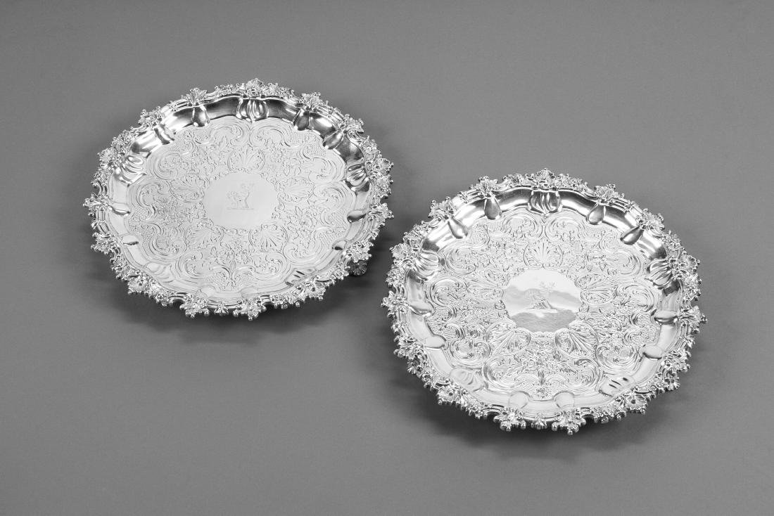 A Pair of Scottish George III Silver Salvers, James &