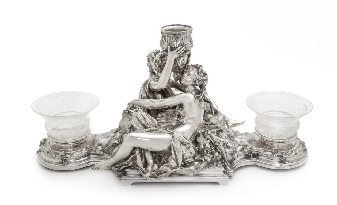 * A French Silver-Plate Centerpiece, Christofle, Paris,