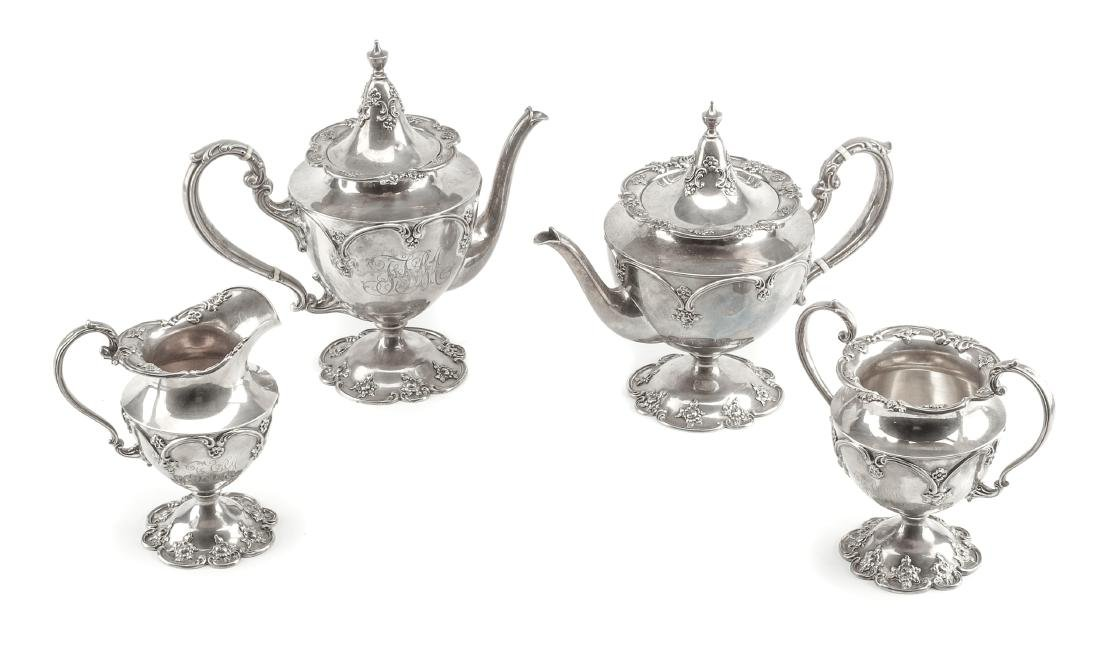 An American Silver Four-Piece Tea and Coffee Service,