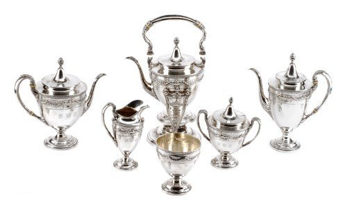 An American Silver Six-Piece Tea and Coffee Service,