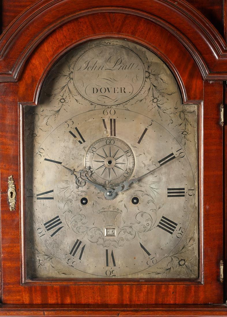 An English Mahogany Tall Case Clock Height 90 x width - 2