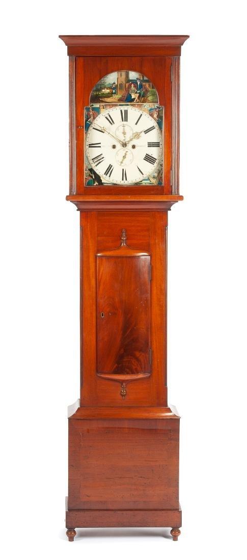 A Scottish Mahogany Tall Case Clock Height 86 x width