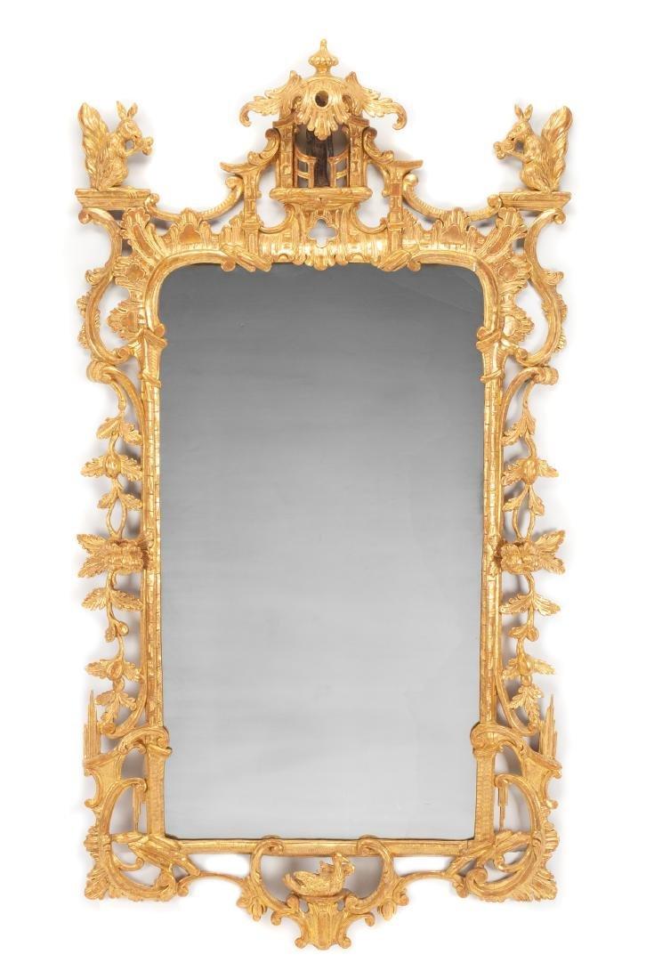 A George III Giltwood Mirror Height 66 x width 35 1/2
