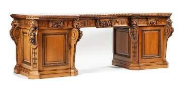 A George III Carved Mahogany Sideboard Height 36 x