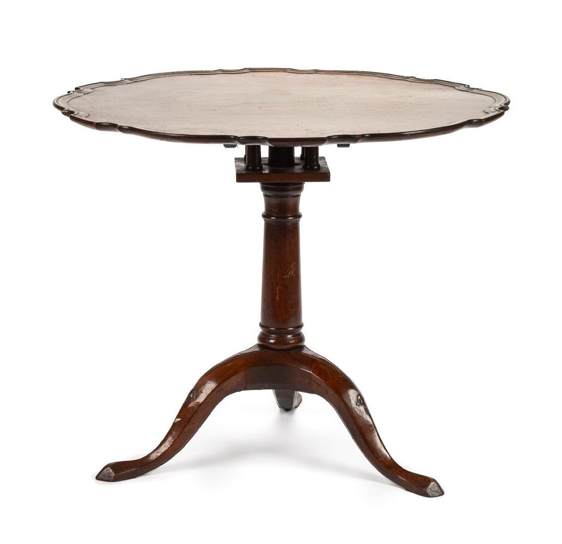 A Georgian Style Mahogany Tilt-Top Tea Table Height 28