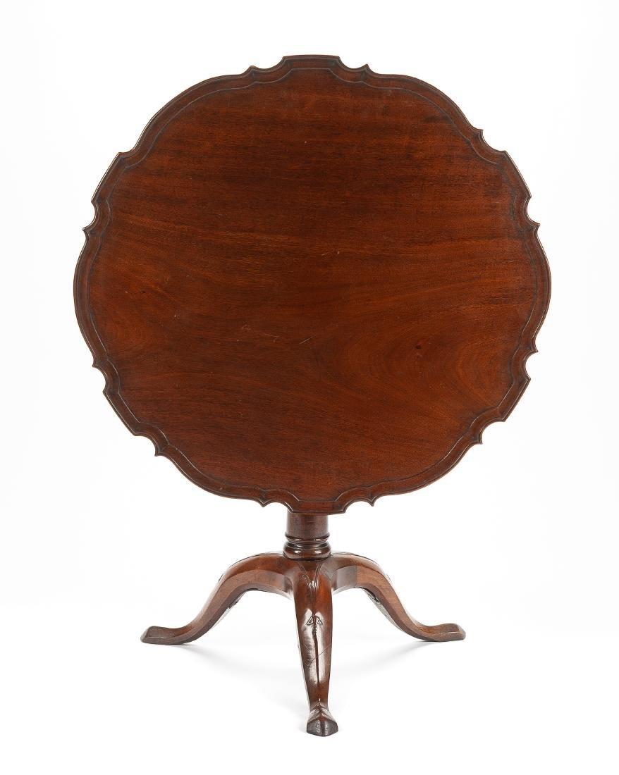 A Georgian Style Mahogany Tilt-Top Tea Table Height 28 - 2