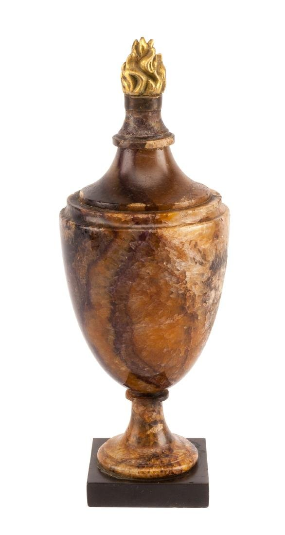 An English Gilt Bronze Mounted Blue John Urn