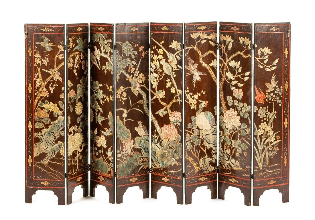 A Chinese Coromandel Eight-Panel Floor Screen Height 43 - 2