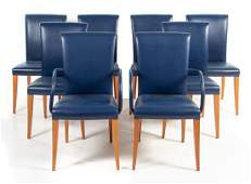 A Set of Eight Leather Dining Chairs, Poltrona Frau
