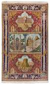 * A Kirman Pictorial Rug Height 9 feet 8 inches x 6