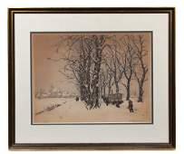 Tavik Frantisek Simon Czech 18771942 Winter Tree