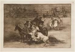 Francisco Goya Spanish 17461828 Bullfighting two