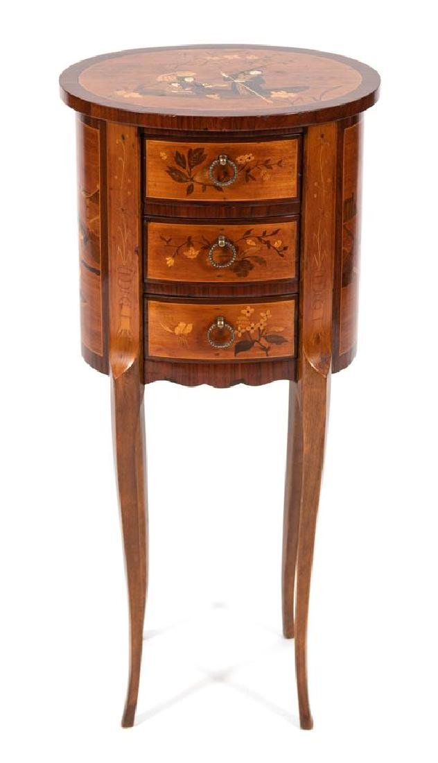 A Louis XV/XVI Transitional Style Marquetry Table en