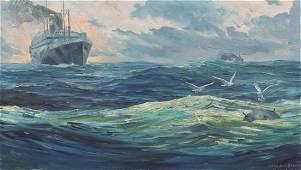 Anton Otto Fischer, (American/German, 1882-1962), Naval
