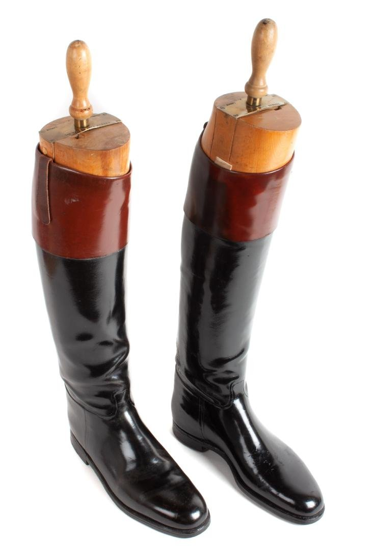 Two Pairs of Leather English Riding Boots