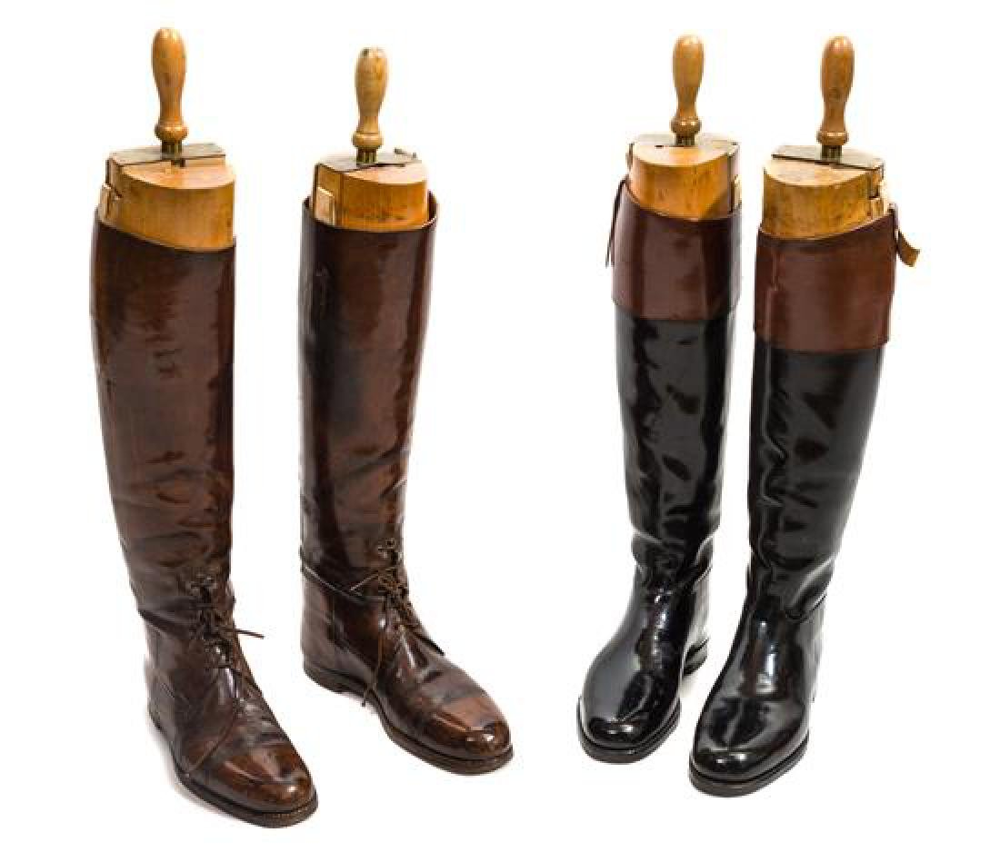 Three Pairs of Leather English Riding Boots