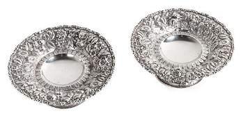Pair of American Silver Tazza Height 3 x diameter 7 12