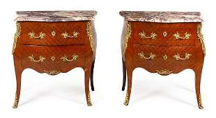 A Pair of Louis XV Style Gilt Bronze Mounted