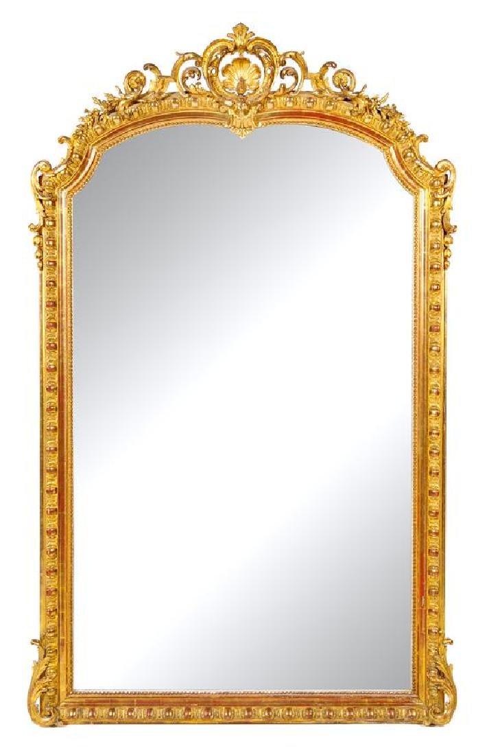 A Napoleon III Giltwood Pier Mirror Height 84 x width