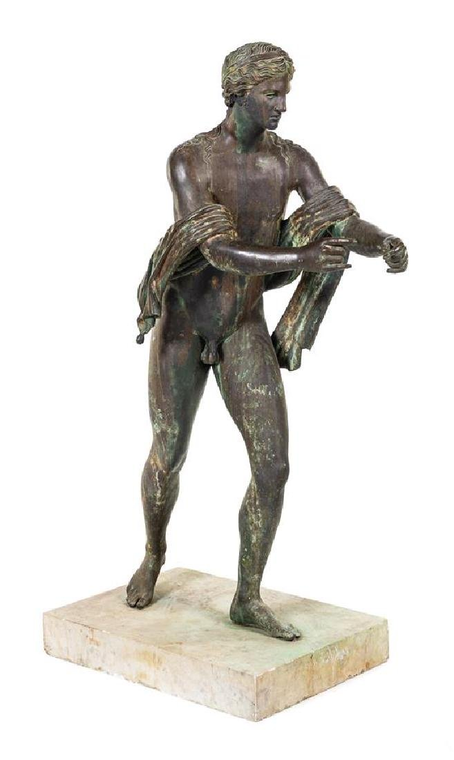 * A Large Bronze Figure of Apollo as an Archer Height
