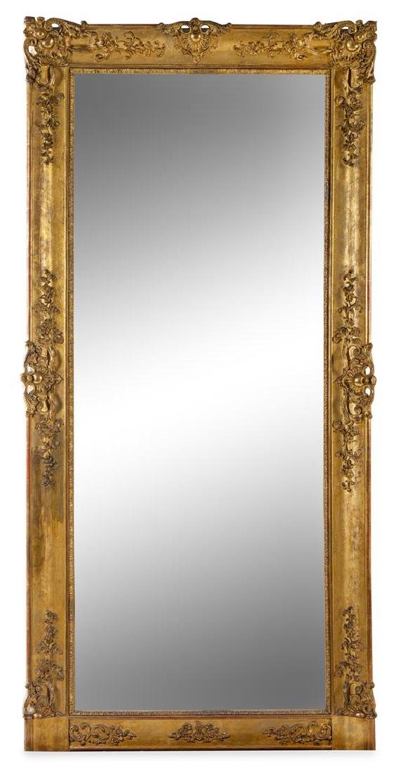 A Continental Giltwood Mirror Height 75 1/4 x width 36