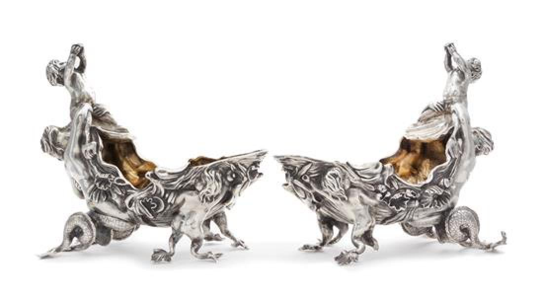 A Pair of Victorian Silver Figural Sauce Boats, Charles