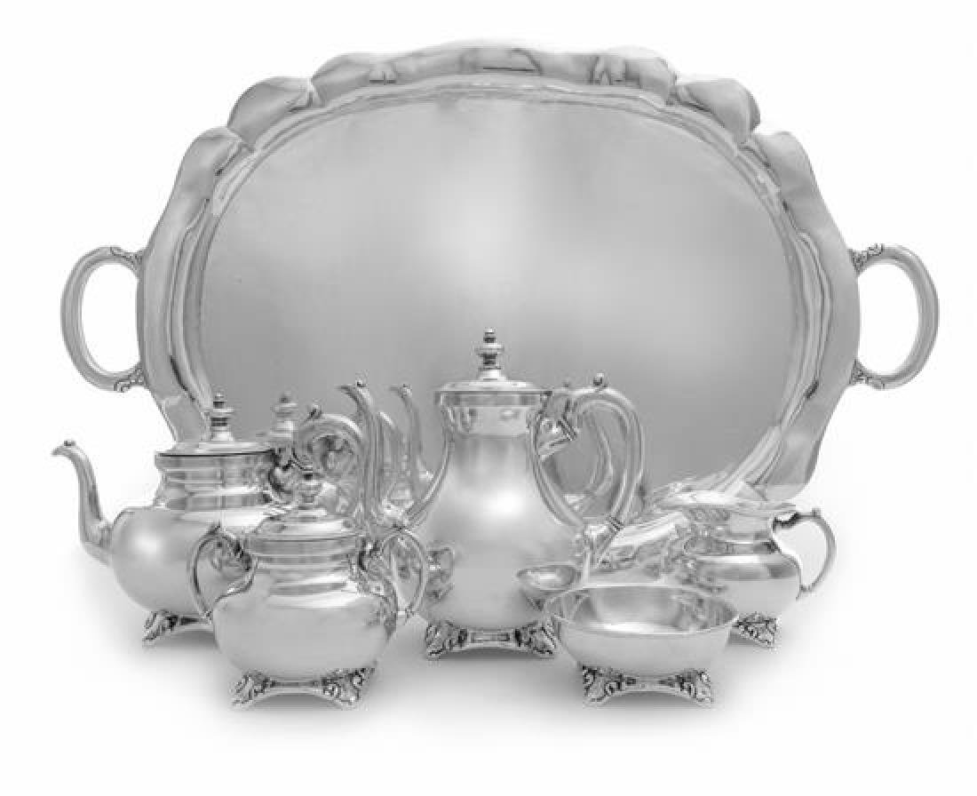 * A Mexican Silver Six-Piece Tea and Coffee Service, C.