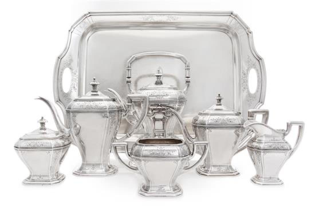 An American Silver Seven-Piece Tea and Coffee Service,