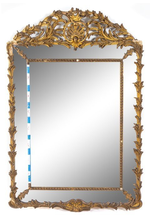 A George III Giltwood Mirror Height 58 1/2 x width 39