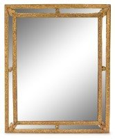 A Regence Style Giltwood Mirror Height 35 3/8 x width