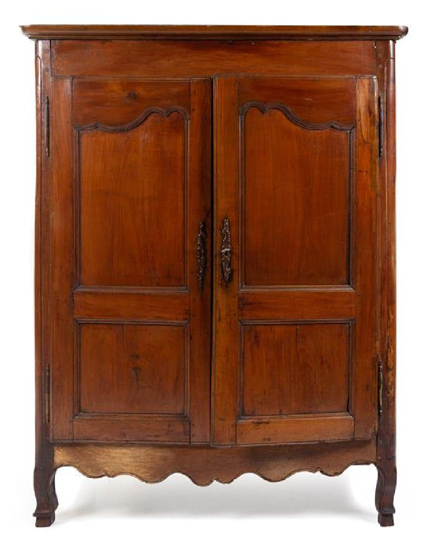 A French Provincial Armoire Height 68 x width 53 x