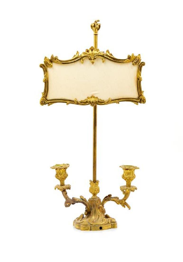 * A Louis XV Style Gilt Bronze Liseuse