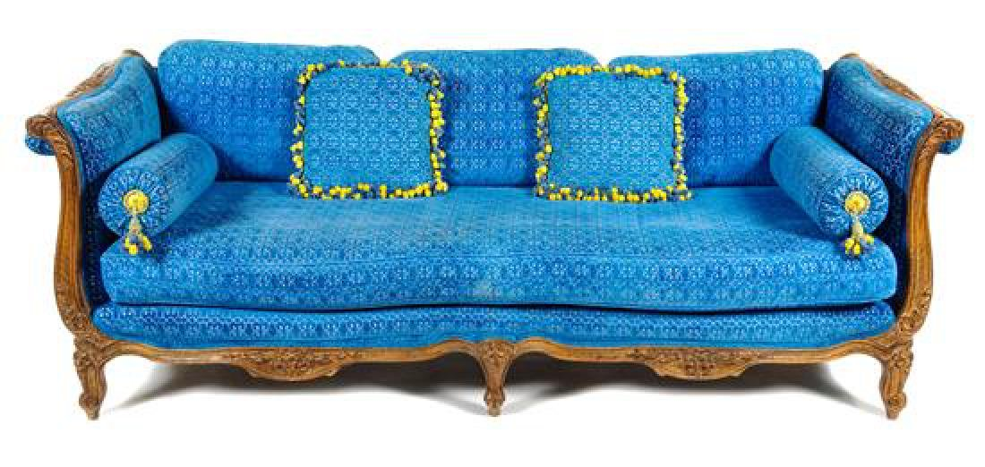 A Louis XV Style Sofa Height 29 1/2 x width 84 x depth
