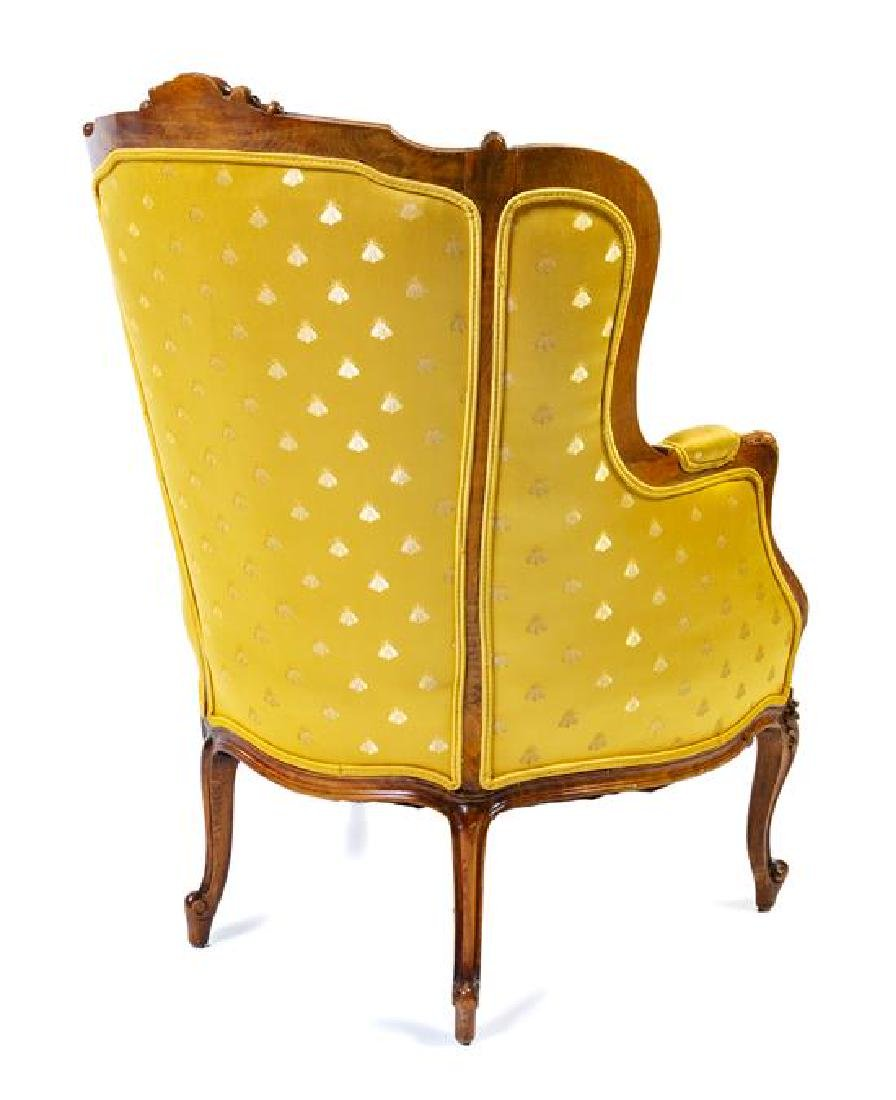 A Louis XV Style Bergere Height 42 x width 29 1/2 x - 2