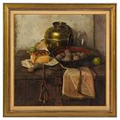 Henk Bos, (Dutch, 1901-1979), Still Life with Bread and
