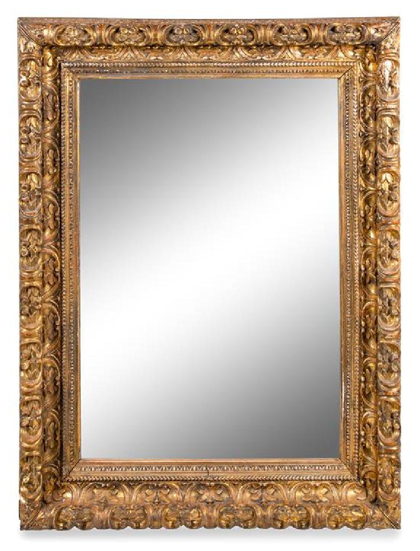 A Continental Giltwood Mirror Height 57 x width 43