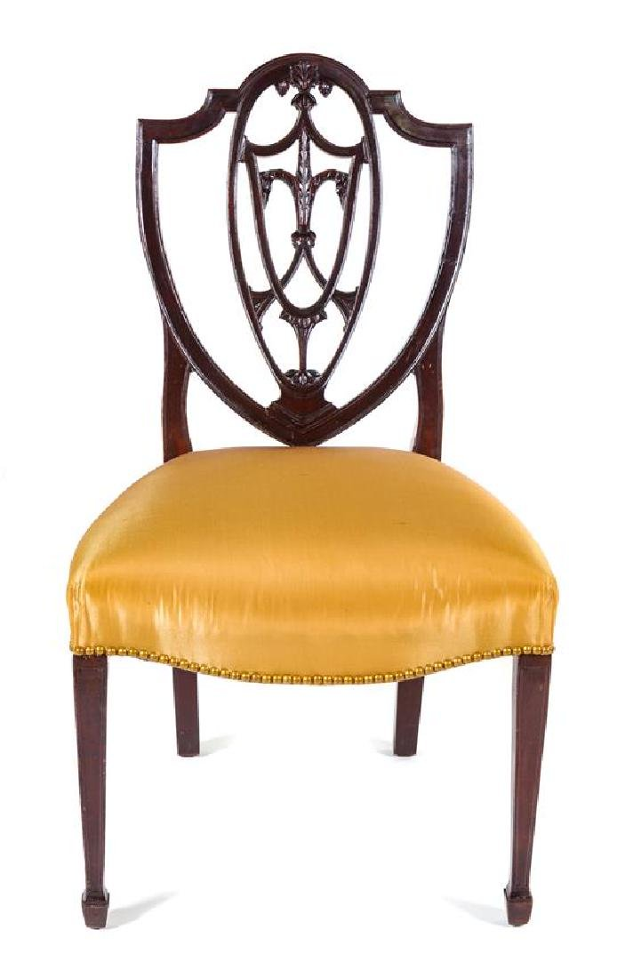 A Hepplewhite Style Mahogany Side Chair Height 36 3/4