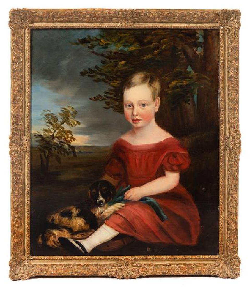 British School, (19th Century), Portrait of a Girl with